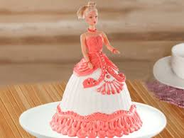 Red Barbie Fondant Cake Party With Barbie Cake Bakingo