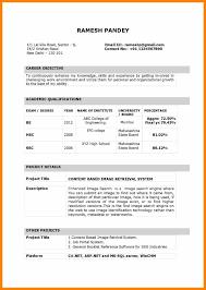 Teaching Resume Sample Pdf Inspirational Cv Format For Fresher