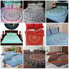 details about bedding set double quilt duvet cover mandala double size indian cotton bedding