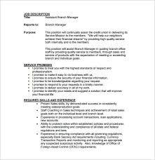 Branch Manager Resume Sample Sarahepps Com