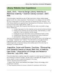 Library User Experience Annotated Bibliography By Lydiaeliza Issuu