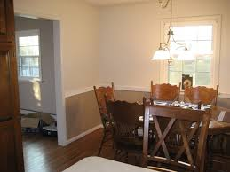 Dining Room Two Tone Walls With Chair Rail All Furniture