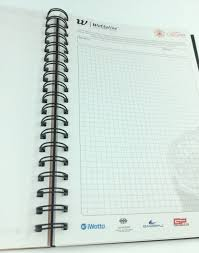 A4 A5 Plastic Cover Spiral Notebook With Color Pages Pp/pvc Cover ...