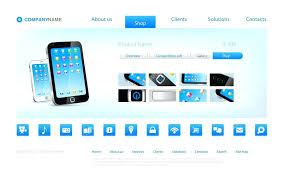 template ping concept smartphone sell page design exle use for any e html