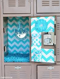 teal decorated locker with lockerlookz magnetic accessories