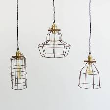 industrial cage lighting. Industrial Rusted Wire Pendant Light Cage Lighting S