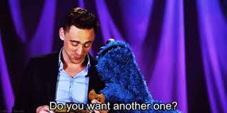 cookie monster tom hiddleston gif. Interesting Cookie To Cookie Monster Tom Hiddleston Gif H