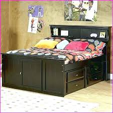 Full Size Bed With Storage Underneath Bed Frame Queen Size Bed Frame ...
