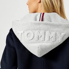 tommy hilfiger women s ivo hooded wool blend coat peacoat image 4