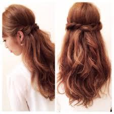 結婚式お呼ばれの髪型ヘアスタイルロングヘアの簡単ハーフアップ集