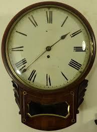antique mahogany drop dial fusee wall clock circa 1860 in good working order