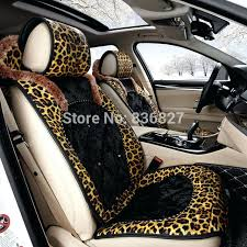 car seat leopard print car seats high quality fashion personality winter plush universal seat cover