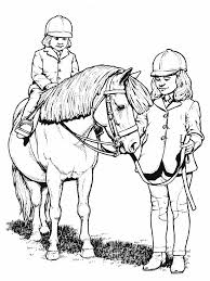 printable coloring pages horse show