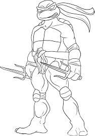 Teenage Mutant Ninja Turtles Coloring Pages Printable Fun Chap