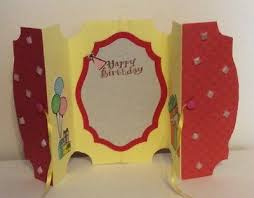 Folded Birthday Card Handmade Birthday Balloon Bear Gift Greeting Card Fold A