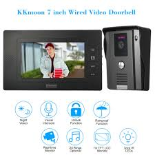KKmoon <b>7 inch TFT LCD Wired</b> Video Door Doorbell Visual ...