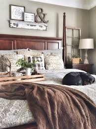 Small Rustic Bedroom Mix Of Grey And Brown With A Little Touch Of Rustic Bedroom