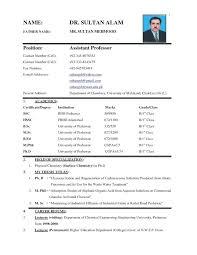 Sample Biodata Sample Resume Bio Data Form Biographical Beautiful Template Full