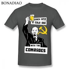 Streetwear Shirt Designs Us 10 7 44 Off Unisex Ussr Lenin The Comrade Communism T Shirt Funny Design For Man Streetwear Tee Shirt In T Shirts From Mens Clothing On