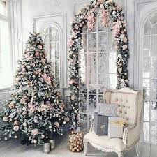 christmas trees decorated pink. Contemporary Trees Glam Pink Tree With Matching Garland To Christmas Trees Decorated
