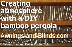 rustic outdoor living with a diy bamboo pergola what to watch for when ing outdoor bamboo roll up shades