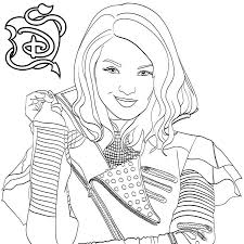Descendants 2 Coloring Pages Mal Free Download Get Coloring Page