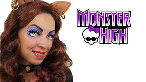 clawdeen wolf monster high makeup tutorial