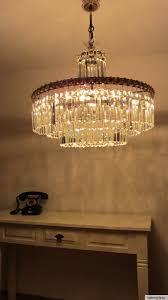 Details Zu Bakalowits Söhne Wien Kronleuchter Kristall Messing Vintage Lampe 50er Jahre