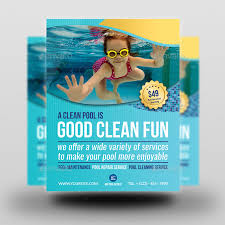 pool service flyers. Cleaning Service Flyers Pool N