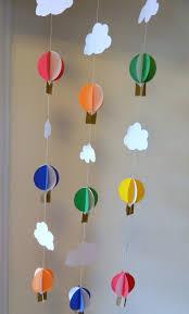 3d Heißluftballons Und Wolken Girlanden Gyerekes Fensterbilder