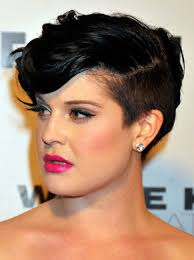 2017 short hairstyles for round faces kelly osbourne pixie haircut