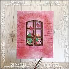 Tri Fold Window Painted Mountain Cards Lynda Kanase Design Team Window Tri