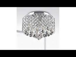 nerisa chrome crystal flush mount chandelier