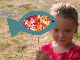 make a stained glass fish for rosh hashanah family craft kids art