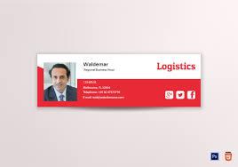 Email Signature Logistics Email Signature Template