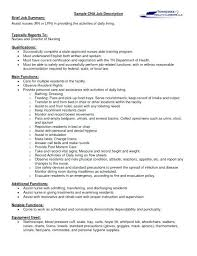 Cna Job Description For Resume New Cna Duties Resume Colbroco