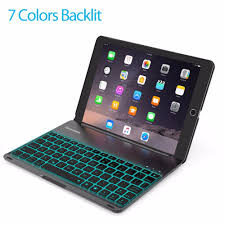 Ipad Lighted Keyboard Case For Ipad Pro 9 7 Inch Ipad Air 2 Keyboard Case Led 7 Colors Backlit Keyboard With 130 Folio Hard Back Cover Buy For Ipad Pro Keyboard Case For Ipad