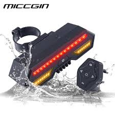 Bike Light With Remote Miccgin Bicycle Wireless Remote Control Turn Tail Light Bike Rear Light Usb Rechargeable Waterproof Led Cycling Accessory