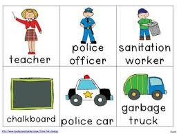 Community Helpers Chart Community Helper Sentences Pocket Chart Stations