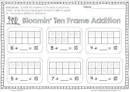 Printable Adding Worksheets Free Number Sentence Ten Frame Printable ...
