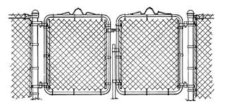 chain link fence double gate. GATES Chain Link Fence Double Gate