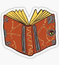 hocus pocus book sticker