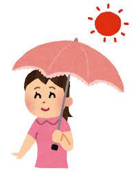 日傘をさす女性のイラスト   かわいいフリー素材集 いらすとや