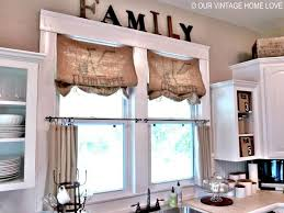 burlap kitchen curtains coffee sacks fit the width of the window perfectly all i did was attach them to the inside of the window trim with s