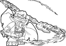 Small Picture Lego Chima Cragger Poisoned by the Power of Chi Coloring Pages
