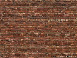 an old brick wallpaper sold by aboutmurals ca in a warm orange colour