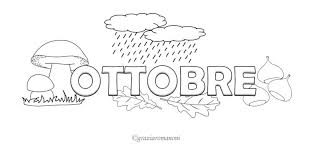 Calendario Per Bambino Colora Ottobre Mondofantasticocom