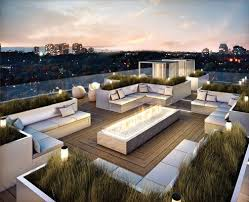 rooftop furniture. Good Decorating Ideas For Rooftop Decks With Outdoor Sofa Furniture Sets And Fireplace R