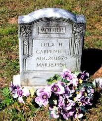 Lula Horne Carpenter (1874-1958) - Find A Grave Memorial