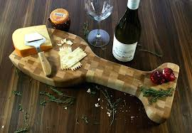 wine glass cheese display holder maple board